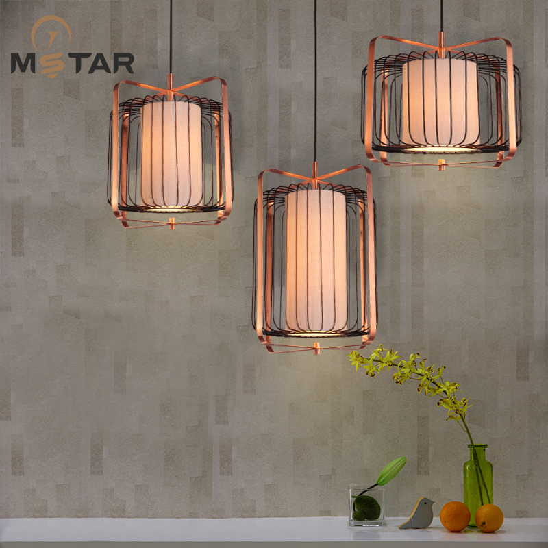 new Chinese iron cage pendant light  bedroom  dining restaurant  lamp metabolic syndrome and alternative medicine