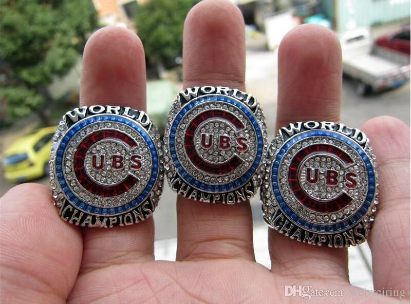 Drop Shipping ZOBRIST RIZZO BRYANT 2016 Chicago Cubs World Serise Championship Ring 3 Together Solid Fan