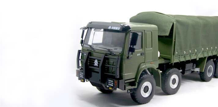 1:24 4x4 protection heavy-duty truck model alloy truck model domestic OE / Collection