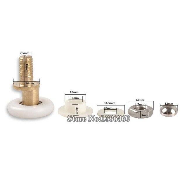 2 stck schiebetren duschtr rder messing einzigen exzentrische duschtr rollen dusche rder angewendet 4 6mm - Duschtur Rollen