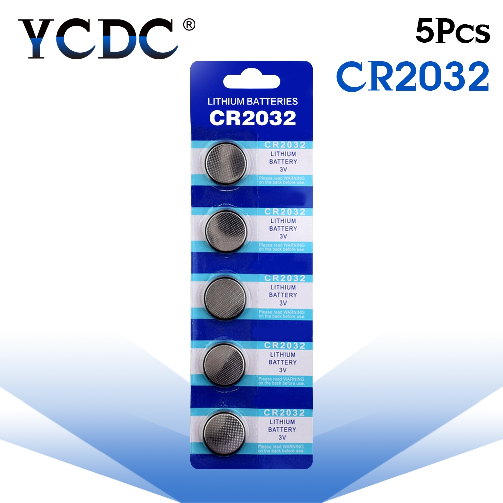 5pcs/lot CR2032 DL2032 ECR2032 CR 2032 2032 CR-2032 3V Lithium Button cell Coin Battery for watch 5pcs smd tab 20mm cr2032 2032 battery button cell holder coin cell retainer battery holder surface mount pcb