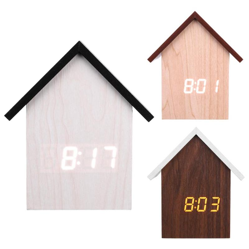 Plastic Alarm Clock LED Voice Control Digital Electronic USB Desktop Table Clock Exquisite Shape Beautiful And Durable