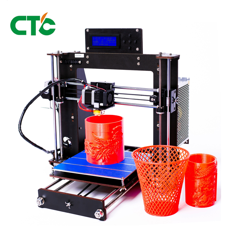 CTC Prusa i3 Pro B 3D cadre d'imprimante haute précision Impressora bricolage LCD 2017 vente chaude Machine