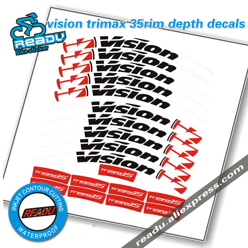 vision trimax 35 rim depth stickers road bike wheels stickers decals road bike Cutter wheel group stickers for two wheels decals