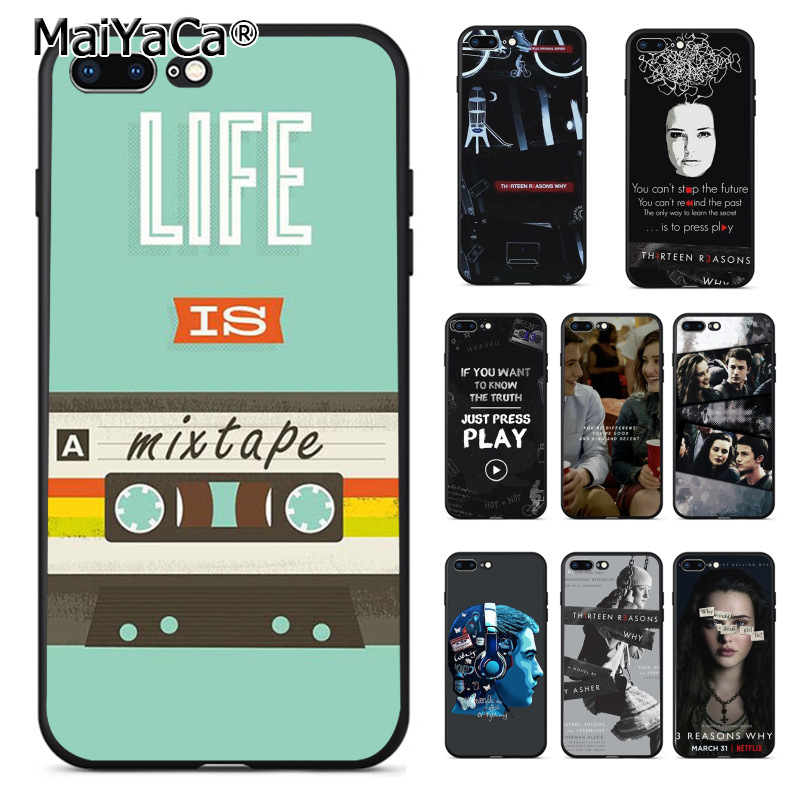 MaiYaCa Thirteen <font><b>13</b></font> <font><b>Reasons</b></font> <font><b>Why</b></font> Quotes Pattern Phone Accessories Cover <font><b>Case</b></font> for Apple <font><b>iPhone</b></font> 8 7 6 6S Plus X 5 5S SE 5C Cover