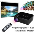 Mini LED Proyector de Vídeo BL-35 DVD TV Portátil Game Proyectores LCD HD de Vídeo de Cine En Casa 3D Educación Beamer HDMI VGA AV USB