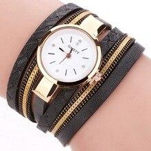 GAIETY Brand Luxury Gold Watches Women Chain Bracelet Wristwatches Rhinestone Dress Female Leather Electronic Quartz Watch  2017