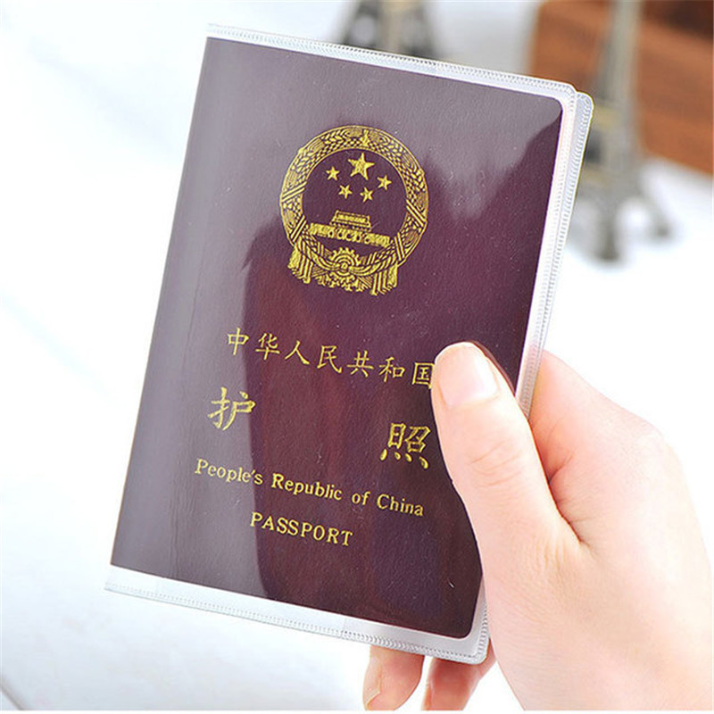 Waterproof Travel Dirt Passport Holder Cover Wallet Transparent PVC ID Card Holders Business Credit Card Holder Case Pouch