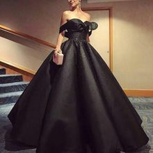 La MaxPa Elegant Black Ball Gowns Evening Gown dresses