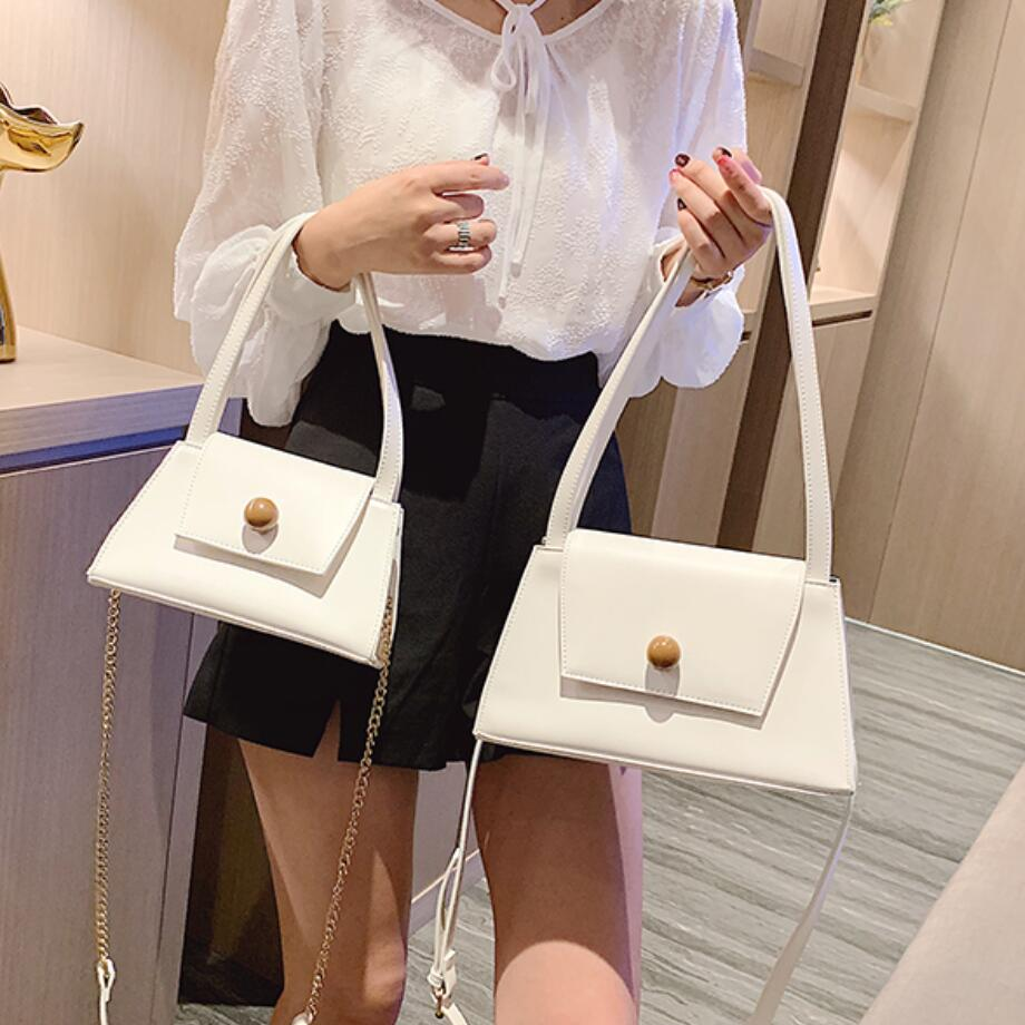 Elegant Female Small Tote Bag 2019 Summer New Quality PU Leather Women's Designer Handbag Chain Travel Shoulder Messenger Bag