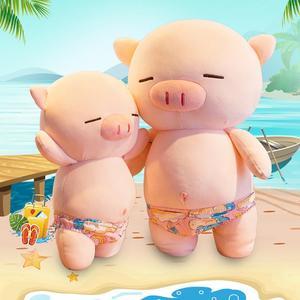 Новая пляжная плюшевая игрушка в форме свиньи, пуховая хлопковая кукла в форме свиньи