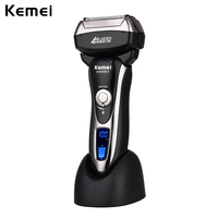 Kemei 4 Blade Professional Wet Dry Shaver Rechargeable Electric Shaver Razor For Men Beard Trimmer Shaving