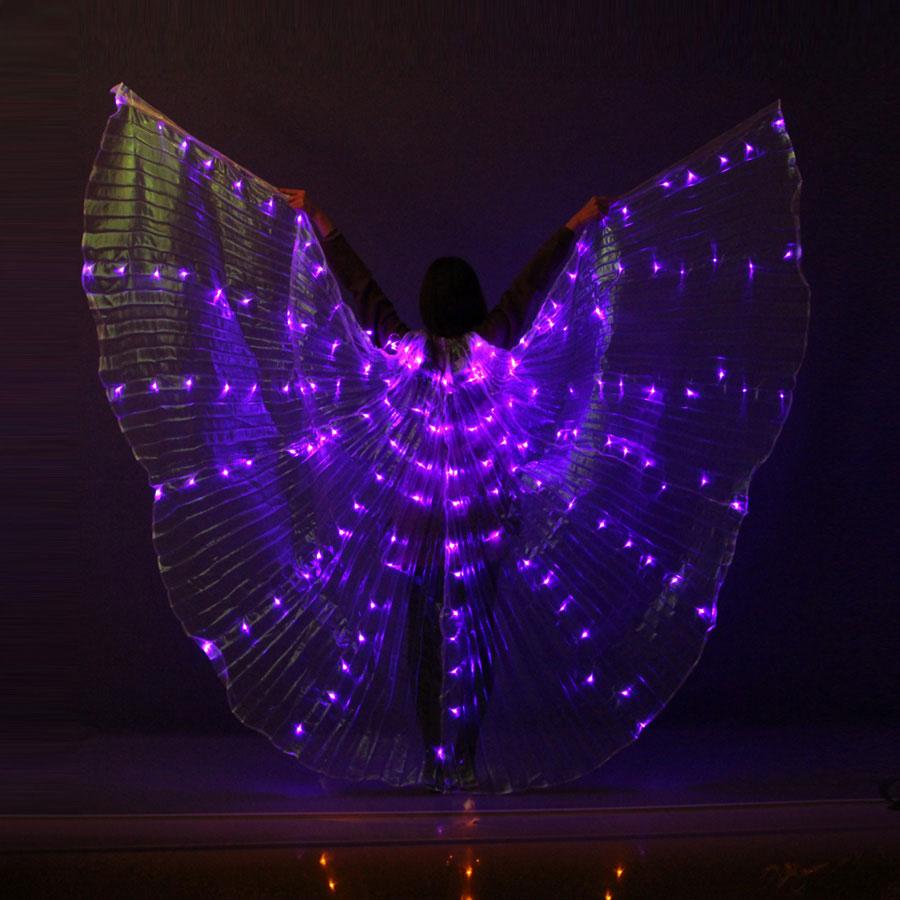 จัดส่งฟรี LED Belly Dance Isis ปีก Belly เต้นรำอุปกรณ์เสริม Stage Performance Props ปีก Sticks Glow Party Supplies-ใน อุปกรณ์ปาร์ตี้เรืองแสง จาก บ้านและสวน บน   2