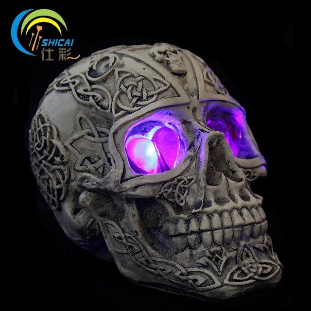 Verlichting Schedel LED Lantaarn Halloween Decoratie Hars voor Party ...