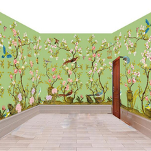 Beibehang масштабная интерьерная живопись обои ручная роспись цветы и птицы фрески тематическое пространство papel де parede 3d обои