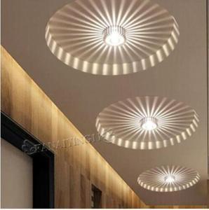 Image 2 - 3W LED Aluminum Ceiling Light Fixture Spot Light Shade Lamp Lighting for ceiling wall corridor luminaire