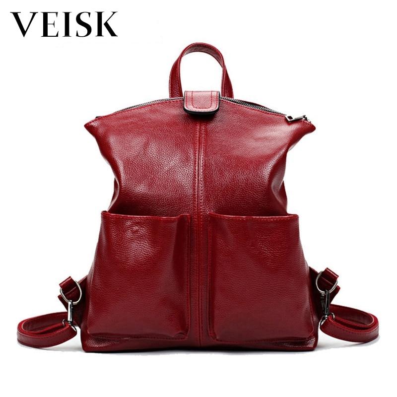 Women Backpack Female Design Back Pack College Style Leather Backpack School Backpacks Large Student Schoolbag Quality Rucksack