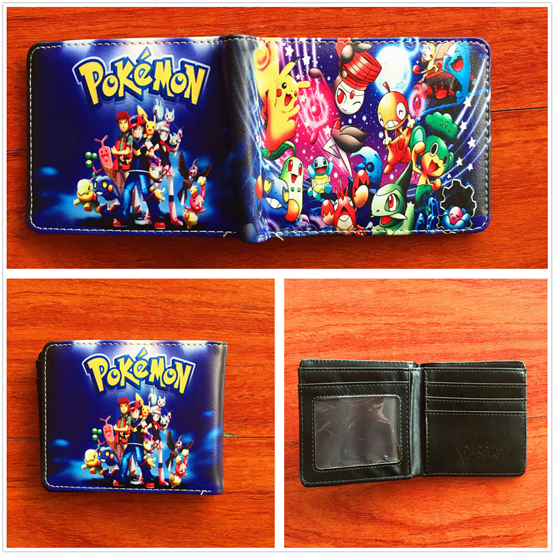 2018 New arrivel high quality anime cartoon Wallets Pokemon Pocket Monster Wallet short PU folding wallets W672 leader kids комбинезон утепл на подкладке первая зима бел гол р 74