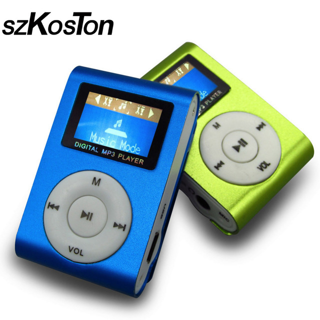 Sport MP3 Player With LCD Screen Metal Mini Clip Multicolor Portable Music