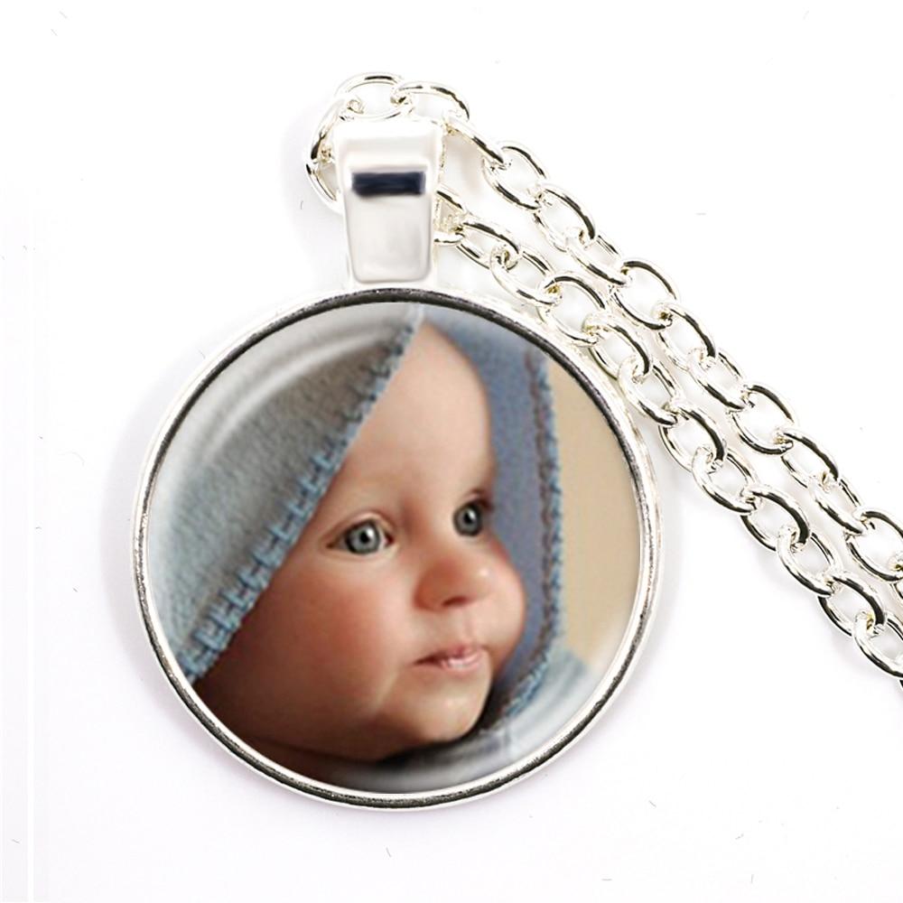 Personalized Custom Necklace Photo Mum Dad Baby Children Grandpa Parents Custom Designed Photo Gift For Family Anniversary Gift