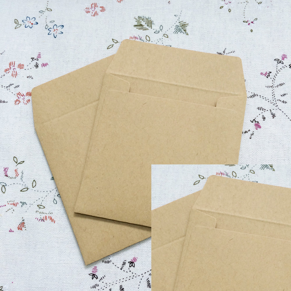 100PCS/lot 8*8cm Kraft Envelopes Square small envelope card bank card membership card en ...