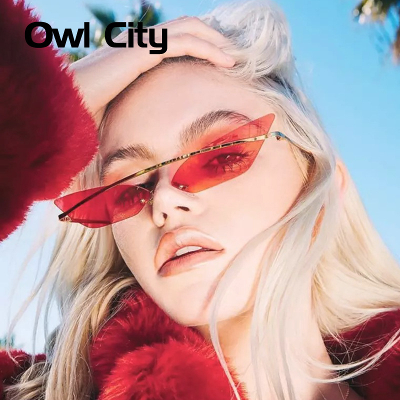 Owl City 2019 Cat Eye Sunglasses Women Retro Female Sun Glasses Trending Styles Vintage Ladies Brand Designer Mirror Shades