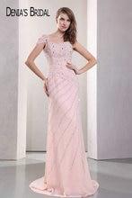 リアル写真ピンクの恋人ビーズシースイブニングドレス床の長さスイープトレインロングウエディングドレス