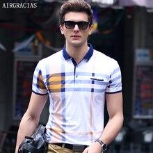 Airgracias Фирменная Новинка Для мужчин Поло рубашка модные классические Поло Homme Slim Fit с коротким рукавом летние Camisa мужской Футболки-поло M-3XL