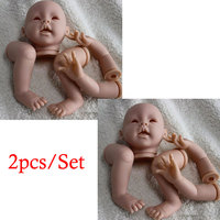 2PCS Set21inch Baby Doll Model Kits Silicone Reborn Baby Kits Reborn Doll Accessories For Baby Doll