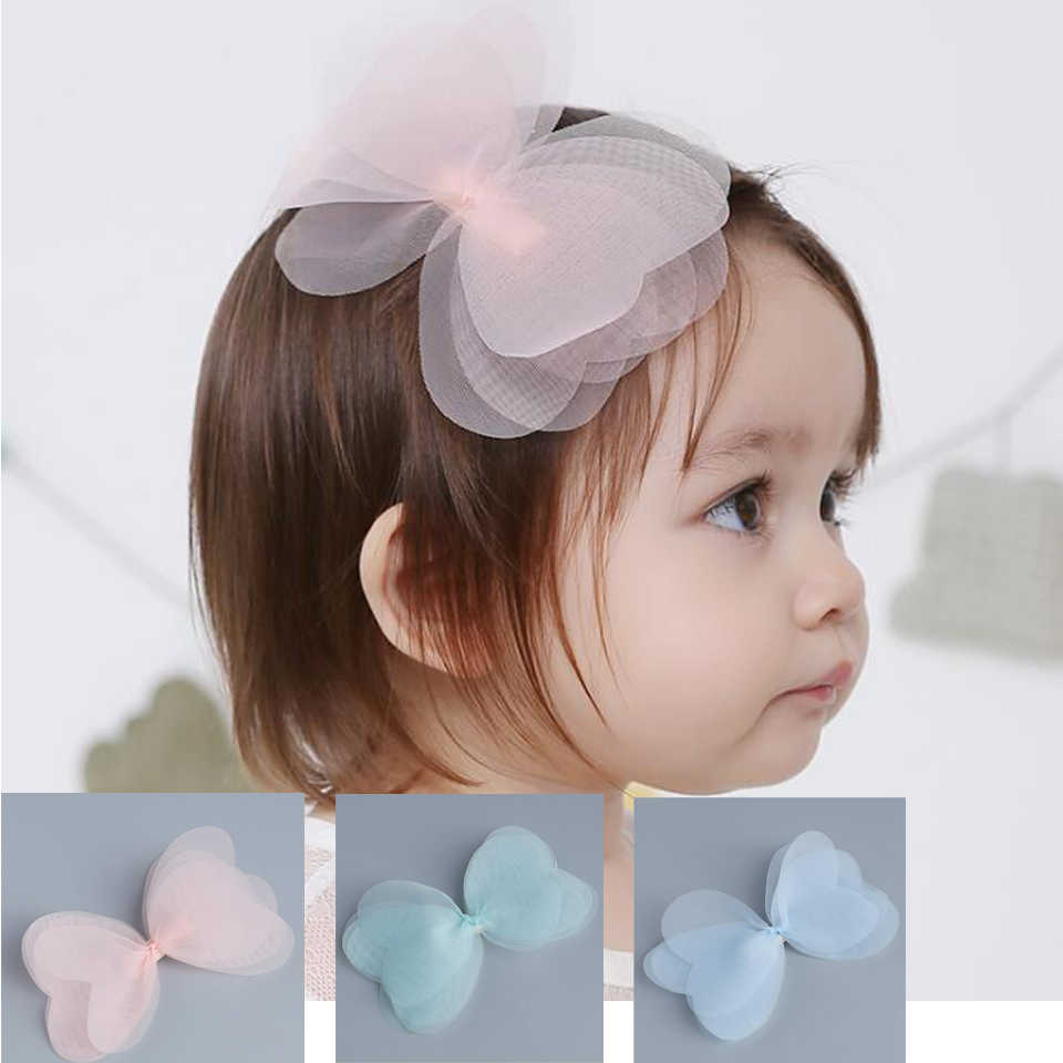 WO/_ LC/_ 1Pc Cute Kids Girls Large Bow Alligator Knot Ribbon Hair Clip Accessorie