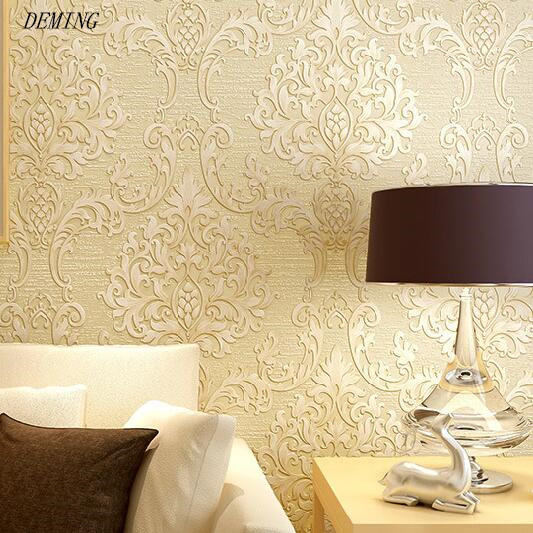 European Luxury Beige Deep Blue Damask Wallpaper For Wall 3 D Classic Embossed TV Room Bedroom Wall paper Home Decor DEMING N71 european luxury beige deep blue damask wallpaper for wall 3 d classic embossed tv room bedroom wall paper home decor deming n71