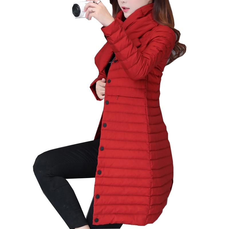 dodaj nov plašč Ultra Keep toplo jakna Duck Down jakna x-Long - Ženska oblačila