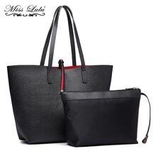 4cc0324d05 Mlle Lulu Femmes PU sacs à bandoulière en cuir Réversible Totes Sac haut  tendance-poignée