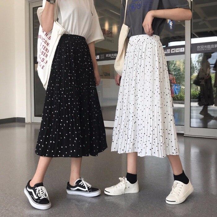 0386860f9 Verano 2019 nueva llegada polka dot Falda Mujer salvaje versión coreana de  la cintura alta era ...