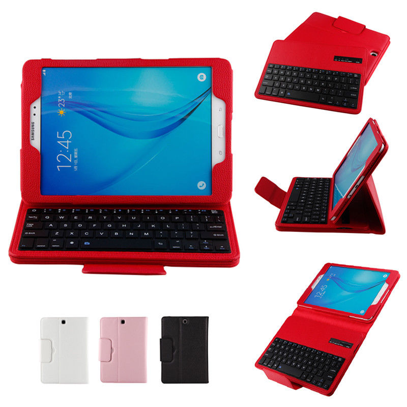 For Samsung Galaxy Tab S2 9.7 Bluetooth Keyboard Case Detachable Keyboard Case for Tab S2 9.7 SM-T810 T815 Stand Case Funda bluetooth v3 0 59 key keyboard with detachable case for samsung galaxy tab 4 8 0 black