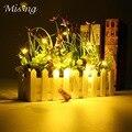 Poder Estrelado LEVOU Bateria Luz Da Corda de Fio de Cobre Em Forma de cortiça Garrafa de Vinho Lâmpada Luz Fada Natal Jardim Home Decor