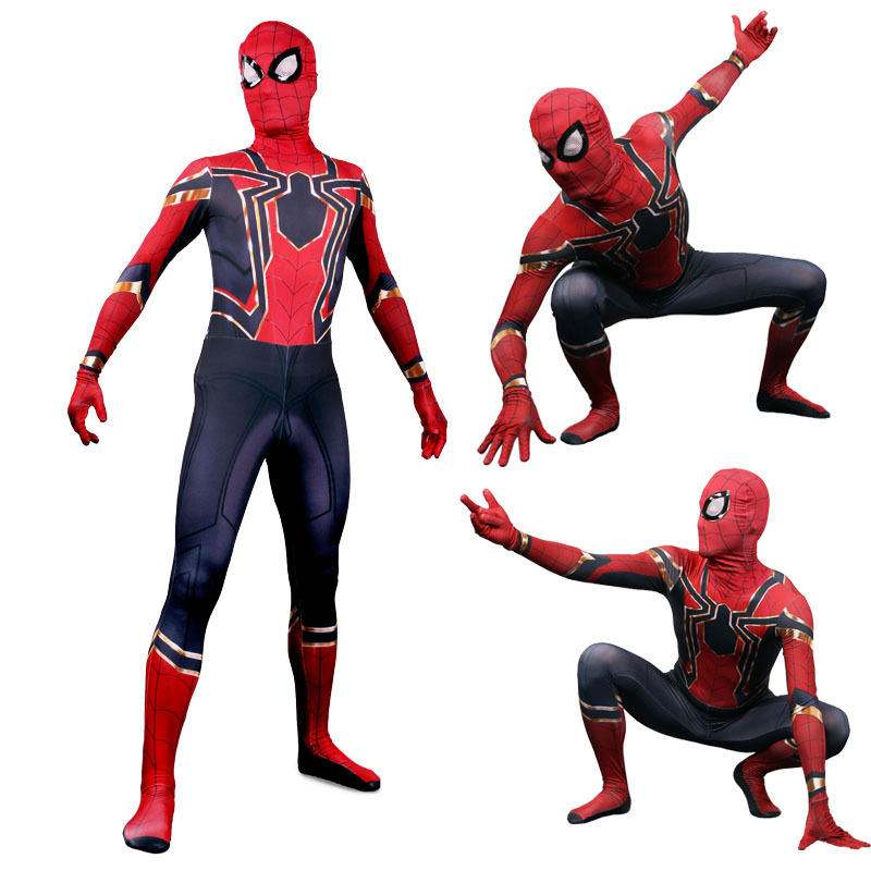 1:1 Advengers Spider-Man Costume Peter Parker Hero Bodysuit Comic Con Spider Man Jumpsuit Party Fancy Dress