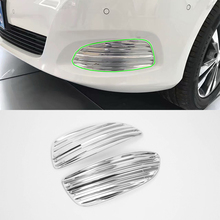 ABS car accessories Car body kits front foglight cover 2pcs For 2017 Mercedes-Benz V class abs car accessories car body kits door handle cover high power for 2017 mercedes benz vito