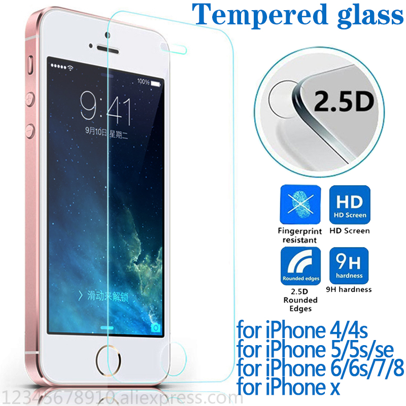For Protecting Glass On The Iphone 6 7 5S 6S eight X Plus For Iphone 7 Display Protector Explosion Proof Scratchproof Tempered Glass