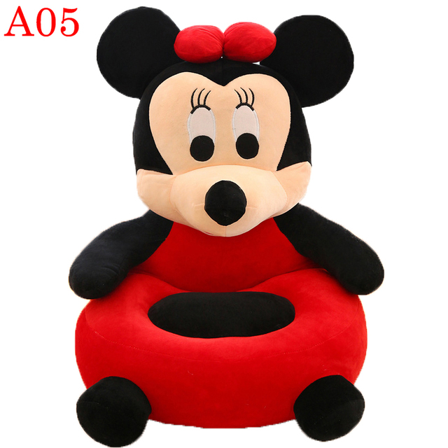 Only Cover Baby Bean Bag No Filling Seat Sofa Bear Baby Eating Chair Carrier Crown Nest Puff