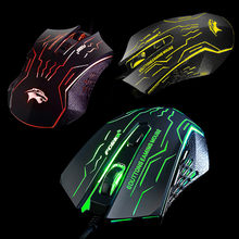 Silent Click USB Wired Gaming Mouse 6 Buttons 3200DPI Mute Optical Computer Mouse Mice for PC Laptop Notebook Game Pro Gamer(China)