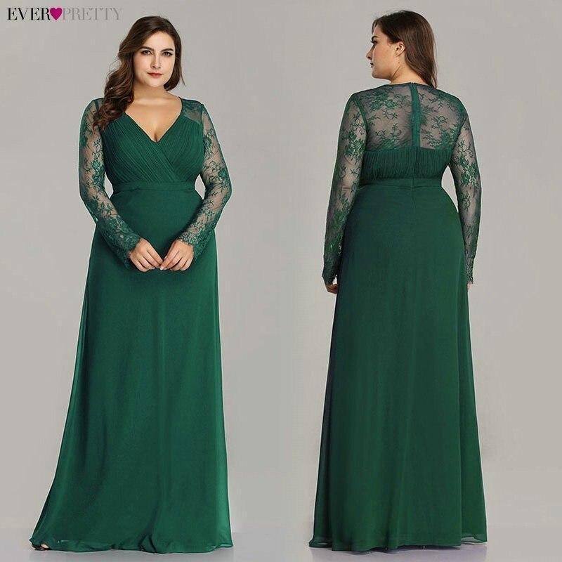 Купить женское вечернее платье с v образным вырезом и длинным рукавом