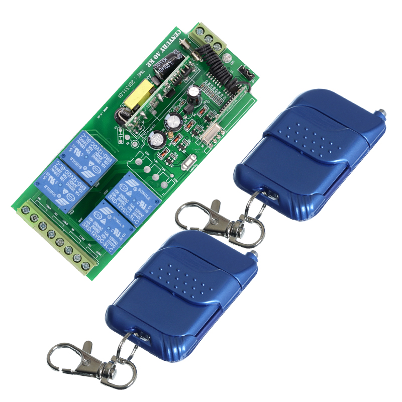 AC85v~250V 110V 230V 4CH Wireless Remote Control Switches 220V Wireless Relay Output Radio RF Transmitter And 433Mhz Receiver юбка платье kate spade