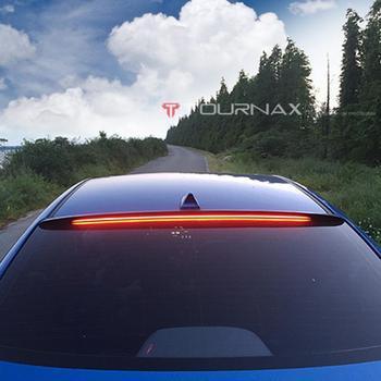 use for hyundai elantra 2016-2018 spoiler elantra spoiler with LED light High Quality ABS Material Car Rear Wing black spoiler