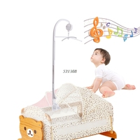 2017 Baby Rattles Bedding Mobile Cradle Toys Arm Support Holder Wind Up Music Box MAR2 30