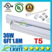 X100 CE RoHS UL Integrated 6FT 36W T5 Led Tube Light 3600lm 85-265V Led lighting Fluorescent Tubes Lamp lights Warranty 3 years