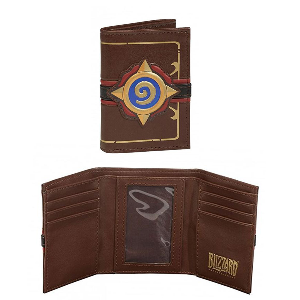 Embossed Leather Heroes Of Warcraft Hearthstone Wallet 3D Logo Men's Card Pack