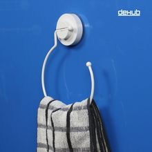 Dehub Super Suction Cup Towel Ring Bathroom Hand Holder Round  Accessories White