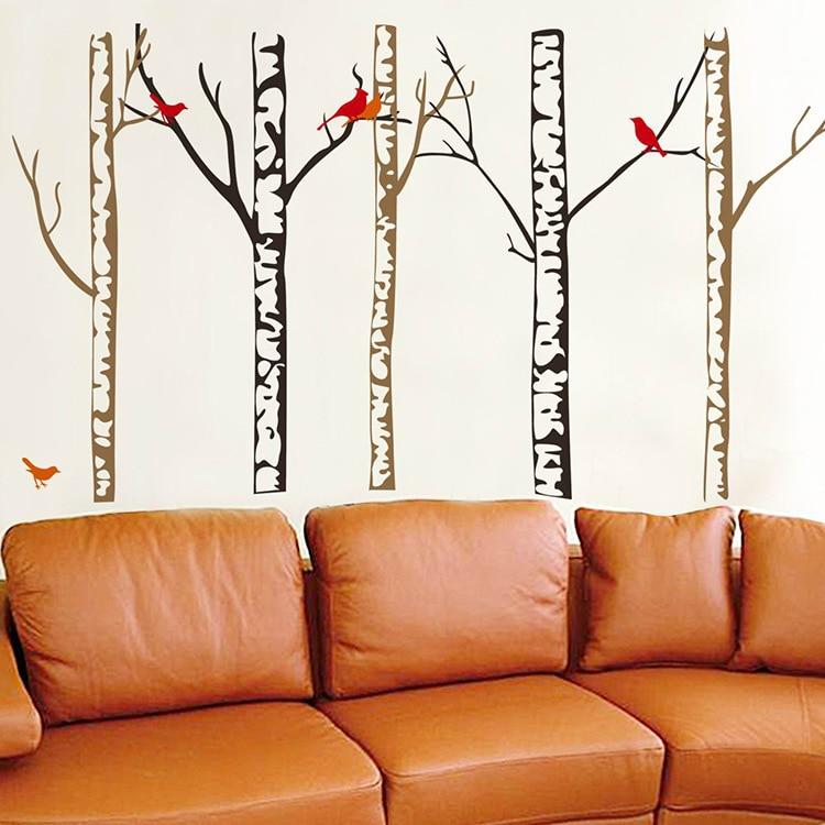 Autumn Tree Trunk Wall Art Mural Poster Decal Home Art Sticker