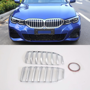 Fit For BMW 3 Series G20 Sedan 2019 2020 Car Styling ABS Car Front Center Grille Cover Frame Trim 2pcs Auto Accessiory